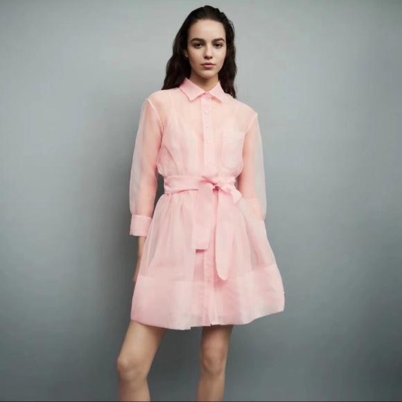 200fcb38d1b MAJE ORGANZA SHIRT DRESS